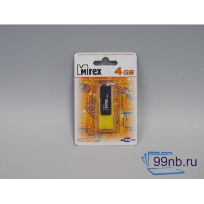 Желтая флешка Mirex / 4 Gb