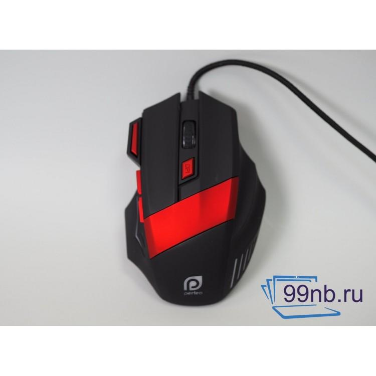 Мышка игровая Black&Red Perfeo